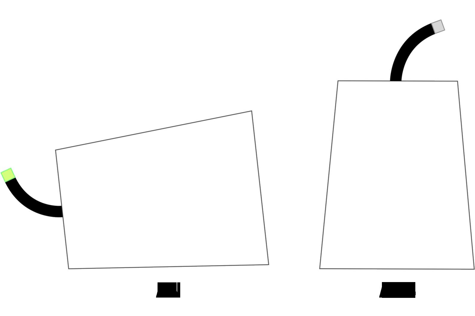 Schemenhafte Darstellung zeigt, dass man teamfunk ausschalten kann indem man die Dose auf den Kopf stellt