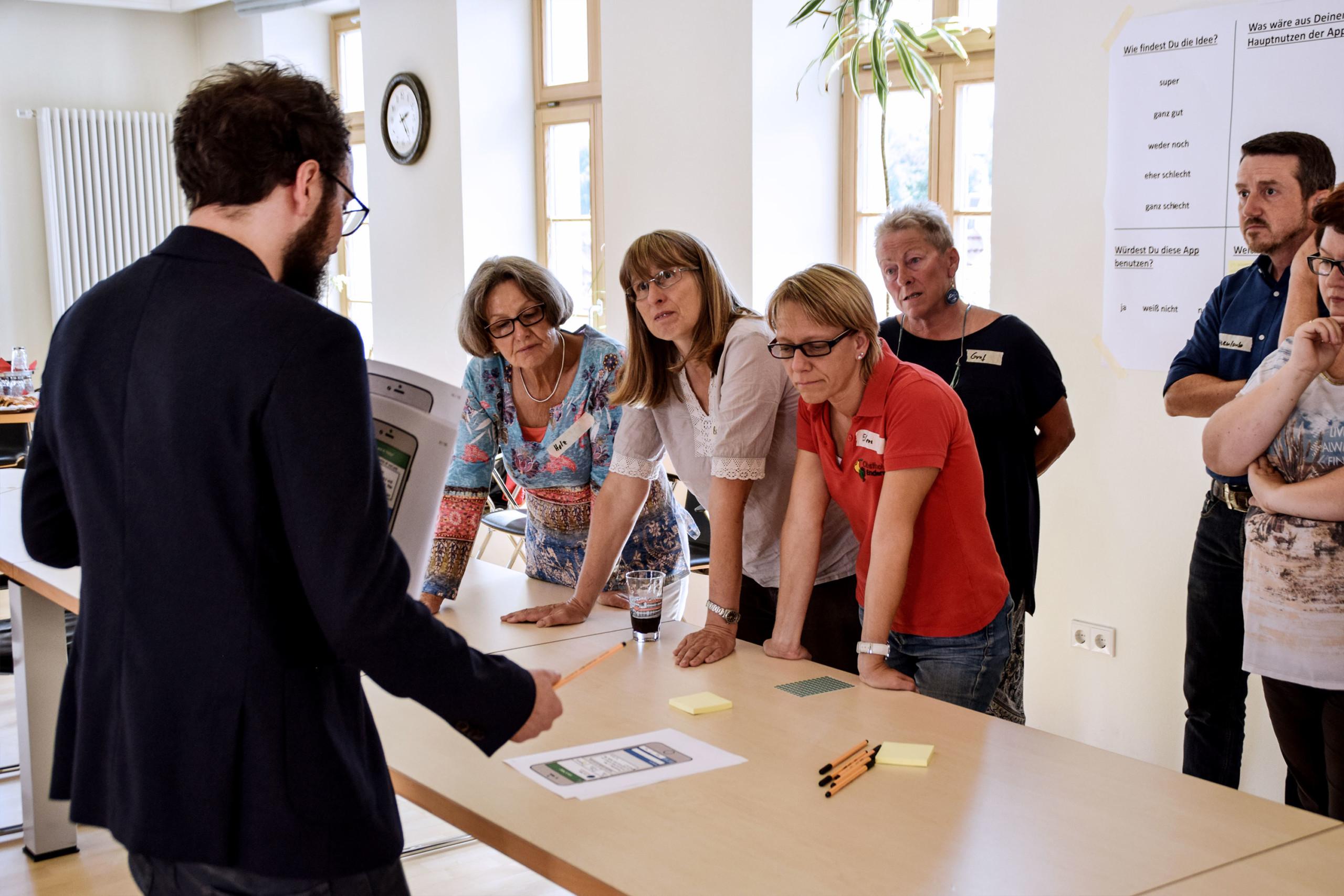 Workshop vor Ort mit Bürger*innen aus den Testgemeinden