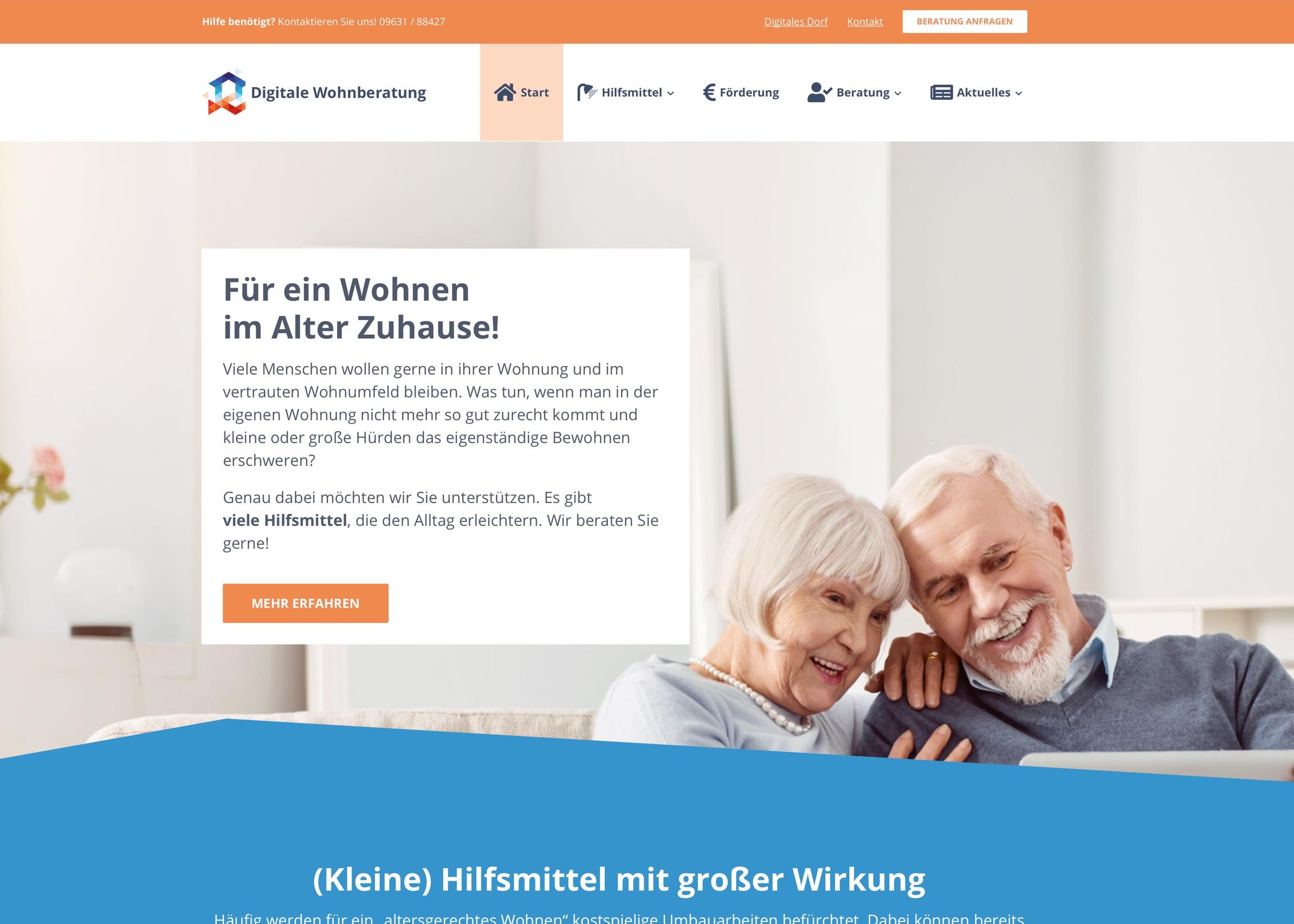 Startseite der Digitalen Wohnberatung